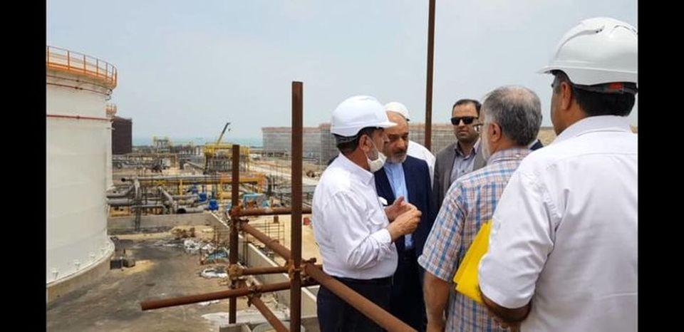 بازدید مدیرعامل سازمان منطقه آزاد قشم از چهار پروژه بزرگ نفت و انرژی قشم