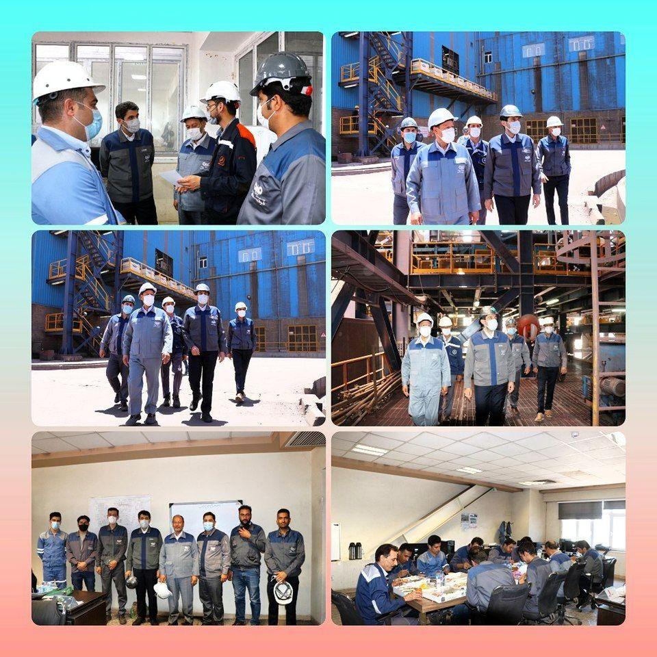 بازدید دکترامرایی ازخطوط تولید فولاد سنگان