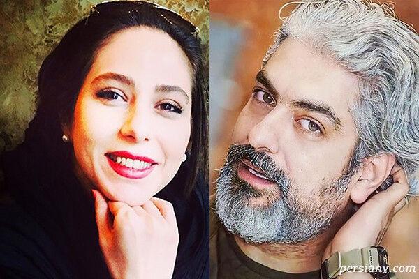 بوسه عاشقانه مهدی پاکدل و همسرش غوغا به پا کرد + فیلم لورفته