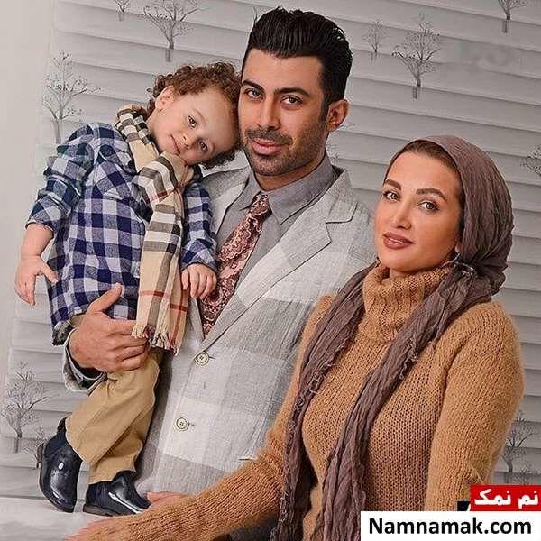 روناک یونسی و همسرش و فرزندش