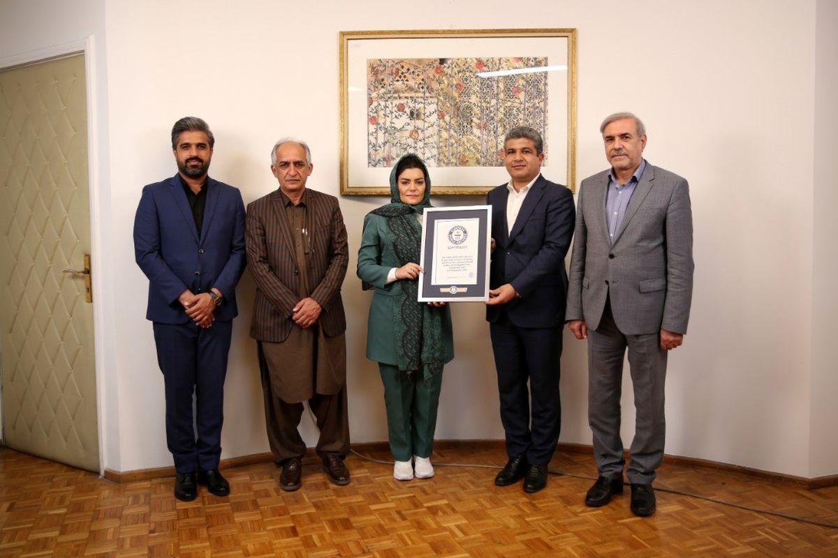 رونمایی از سومین رکورد گینس «الهام اصغری» شناگر ایرانی