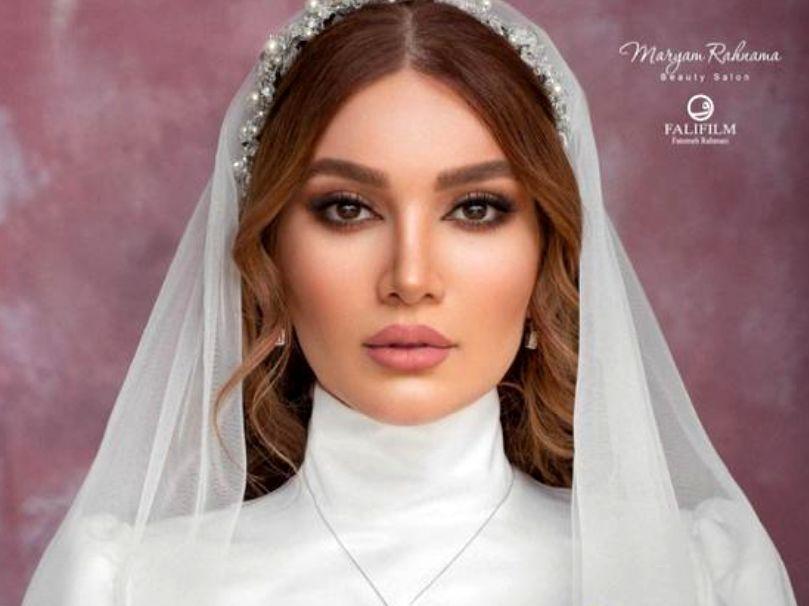 متین ستوده در لباس عروس + عکس همسرش