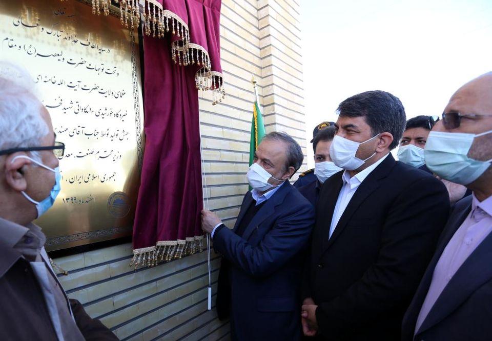 افتتاح نیروگاه خورشیدی ۱۰ مگاواتی شهید فخری زاده چادرملو توسط وزیر صمت