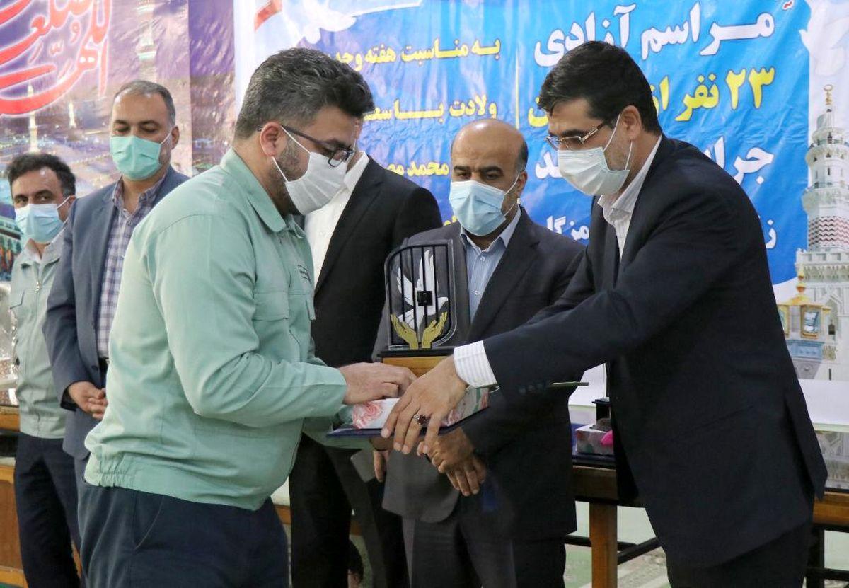 آزادیبیش از صد نفر از زندانیان جرائم غیر عمد توسط فولاد  هرمزگان