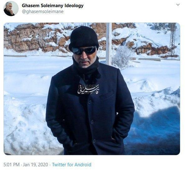 تصویری منتشرنشده از سپهبد شهید حاج قاسم سلیمانی در برف
