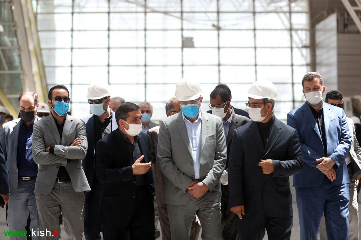 بازدید دبیر شورایعالی مناطق آزاد از ترمینال جدید فرودگاه کیش + تصاویر