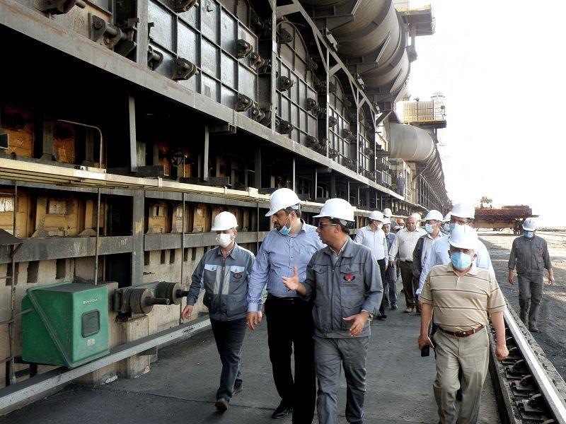 بازدید مدیرعامل شرکت  توسعه معادن و فلزات از کارخانه کک سازی طبس