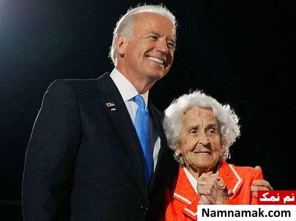 جو بایدن و مادرش