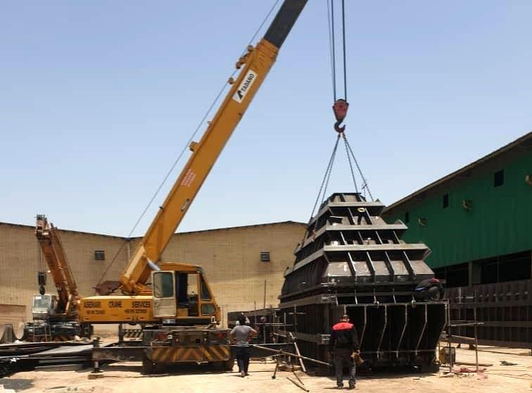 تحویل مخازن ۱۸۰ متر مکعبی شرکت فولاد شادگان