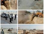 رفع تصرف ۱۲۰۰ مترمربع اراضی خالصه دولتی به ارزش میلیاردی در روستای گیاهدان قشم