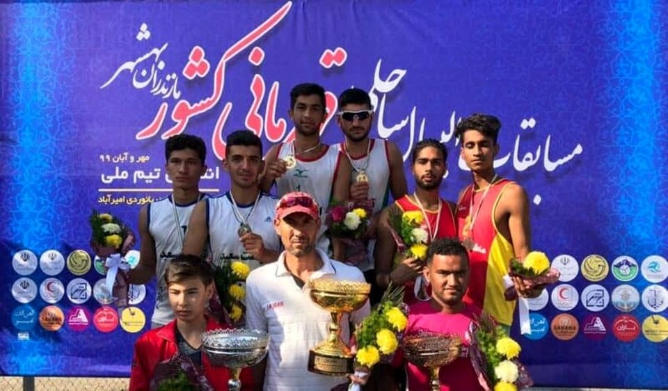 منطقه آزاد قشم به مقام سوم مسابقات والیبال ساحلی کشور دست یافت