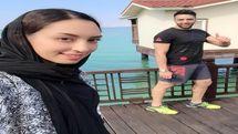 عکس های بی حجاب و خارج از عرف کیمیا علیزاده در کنار همسرش +عکس و بیوگرافی