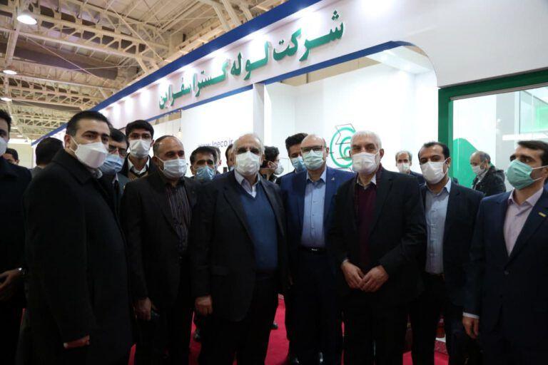 بازدید مدیر عامل شرکت ملی نفت ایران از غرفه ایدرو در بیست و پنجمین نمایشگاه نفت، گاز، پالایش و پتروشیمی