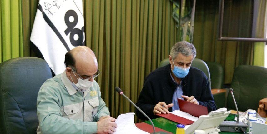 امضای تفاهمنامۀ همکاری بین فولاد مبارکه و اتاق بازرگانی صنایع، معادن و کشاورزی تهران
