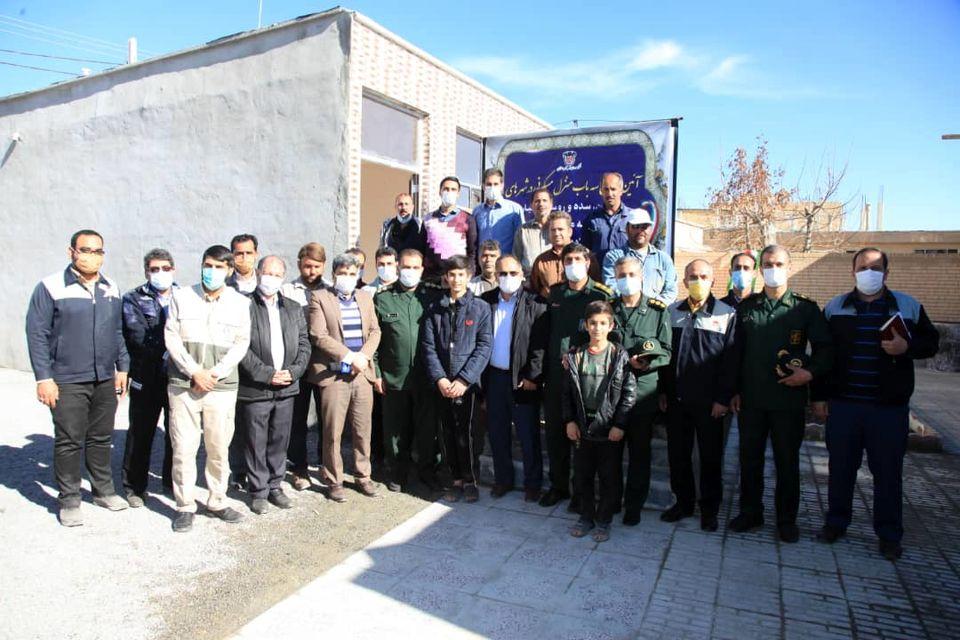 افتتاح سه واحد مسکونی جهت نیازمندان به همت گروه جهادی فولادمردان ذوب آهن