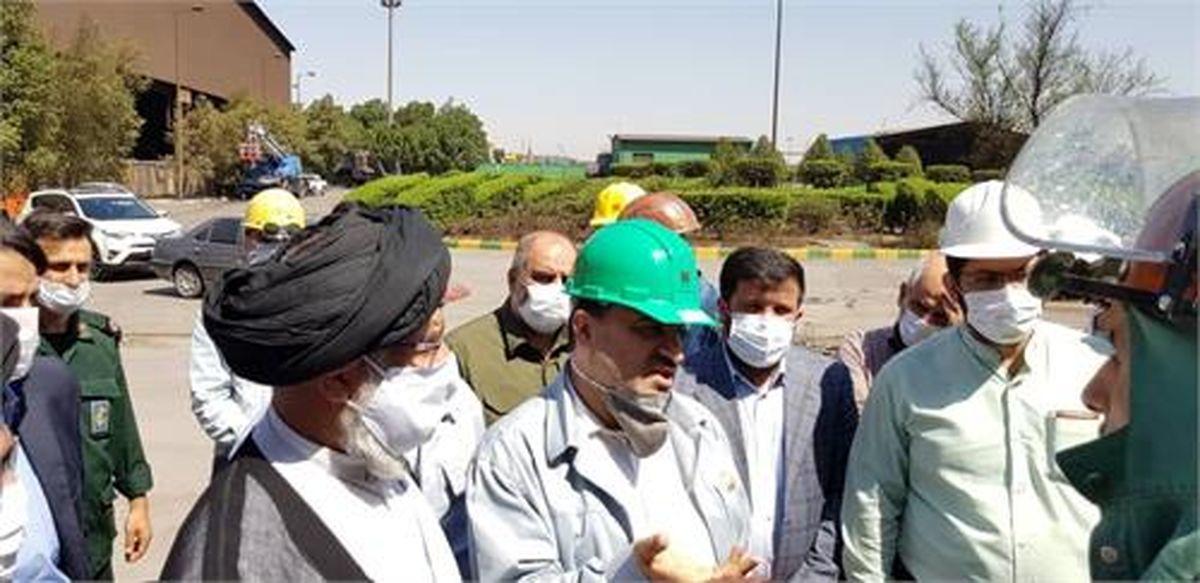 بازدید نماینده ولی فقیه در استان از شرکت فولاد خوزستان