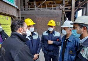 بازدید مدیر عامل شرکت ذوب آهن از روند بازسازی کنورتور فولاد سازی
